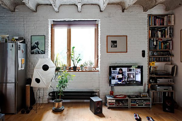 Small Industrial Apartments Creative Living Design For The Simple Industrial Apartment Decor